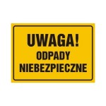 Znaki i instrukcje Top Design znak Uwaga Odpady niebezpieczne OA094